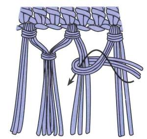 Double knot fringe_color