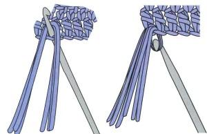 Single knot fringe_steps 1 and 2