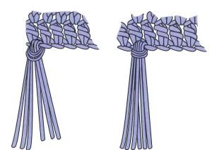 Single knot fringe_steps 3 and 4