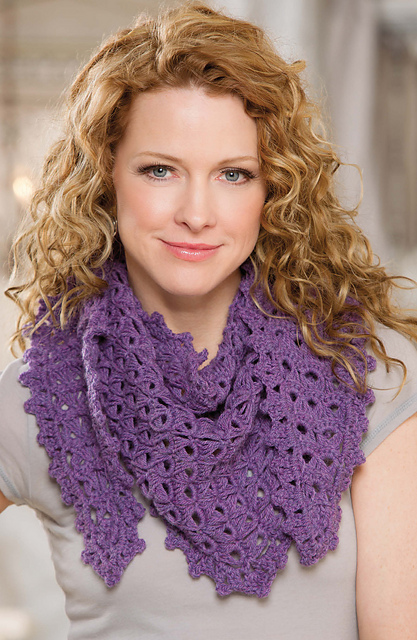 Broomstick Lace Shawlette From Learn to Crochet Lace with Ellen Gormley