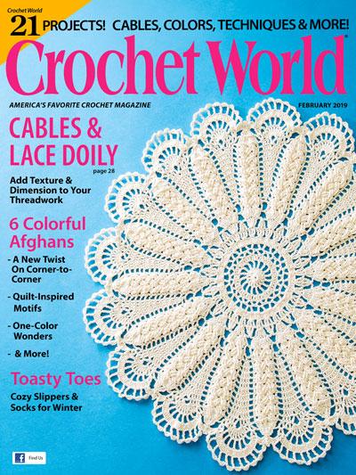 Sneak Peek February 2019 Crochet World Blog