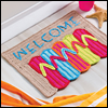 A Day at the Beach -- Flip-Flop Doormat