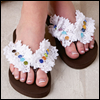 A Day at the Beach -- Flowered-Up Flip-Flops