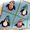 Scrap Delights -- Playful Penguins Blanket