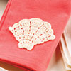 Outdoor Living -- Shell-Motif Napkin