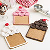 Beginner's Luck -- Ice Cream Sundae Coasters