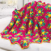 Nifty Neons -- Kaleidoscope Throw