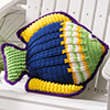 Summertime Living -- Something Fishy Pillow