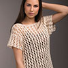 Touch of Style -- Net Lace Top