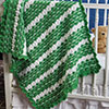 Cozy Throws & Afghans -- Shamrock Baby Blanket