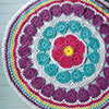 Crochet World Then & Now -- Color Wheel Table Mat