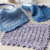 Beginner's Luck -- All Squares Dishcloth Set