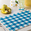 Happy Days Kitchen -- Gingham Place Mat & ...