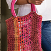 Crochet With A Twist -- Knotted Net Tote