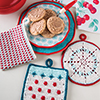 Happy Days Kitchen -- Retro Pot Holder Set