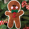Crochet for the Holidays -- Gingerbread Ornament