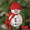 Crochet for the Holidays -- Holly Jolly Snowman