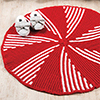 Crochet for the Holidays -- Peppermint Twist Rug