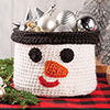 Last-Minute Gifts -- Snowman Basket