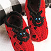 Socks, Slippers & More -- Ladybug Slippers