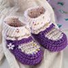 Socks, Slippers & More -- Mary Jane Baby Booties