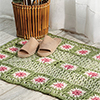 Signs of Spring -- Floral Granny Square Rug