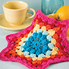 Scraps Delight -- Hexagon Dishcloth
