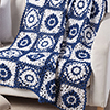 Summertime Blues -- Moroccan Tiles Afghan