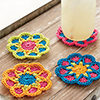 Fast, Easy, Fun! -- Pretty Posies Coasters