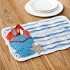 Summertime Blues -- Waves & Sand Place Mat