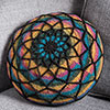 Going in Circles -- Cathedral Glass Pillow