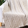 Winter Wonderland -- Chained Loop Aran Throw
