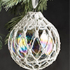 Winter Wonderland -- Lace Snowball Ornament