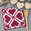 Hearts all Around -- Heart Harmony Hot Pad