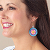 Fast, Easy, Fun! -- Mini Mandala Earrings