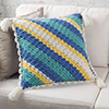 Corner-to-Corner -- Striped C-2-C Pillow