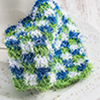 Mosaic Crochet -- Double Checks Scrubby