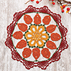 Harvest Home -- Autumn's Arrival Doily