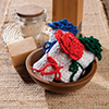 Holiday Countdown -- Fold n Roll Floral Washcloths