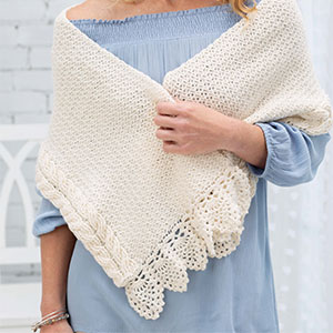 Elegant Cable Shawl