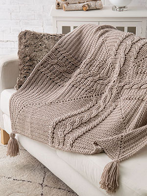 Celtic Cross Cable Throw
