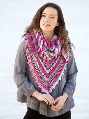 Notes in the Garden Shawl