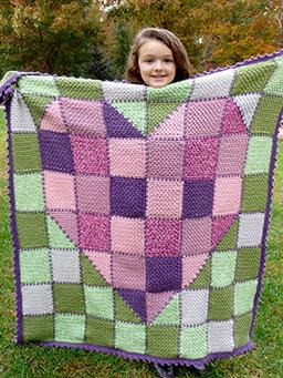 Patchwork Heart Baby Blanket