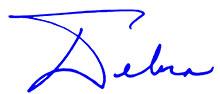 Debra signature